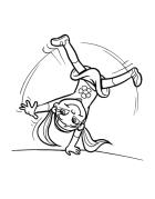 Cartwheel cartoon
